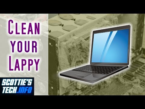 How to clean out dust inside your laptop