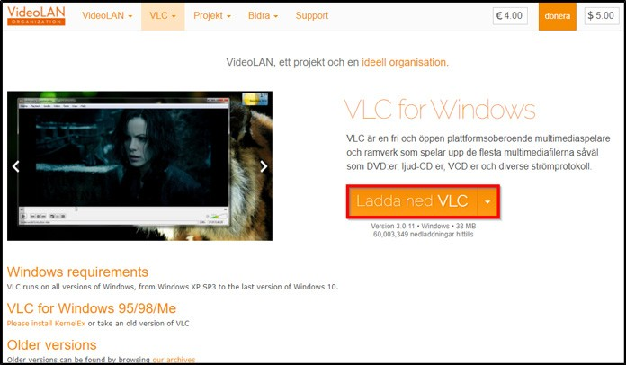 Ladda ner VLC
