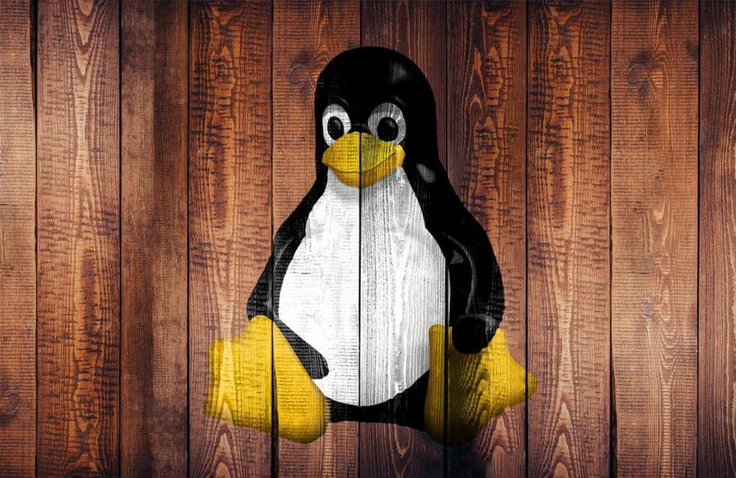 Linux bild med pingvin