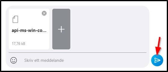 Skicka meddelande skype via pil