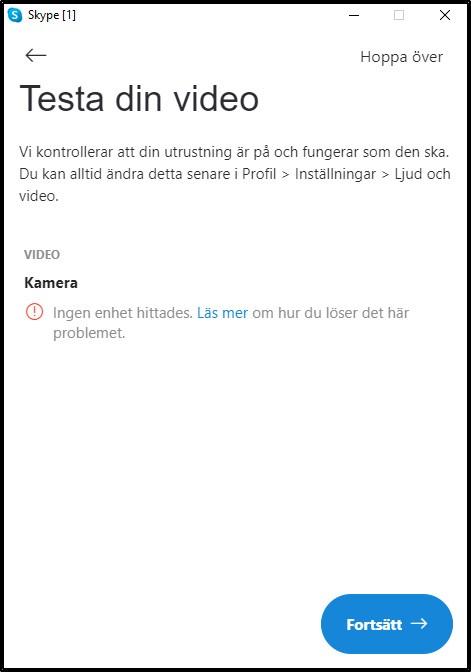 Testa video skype