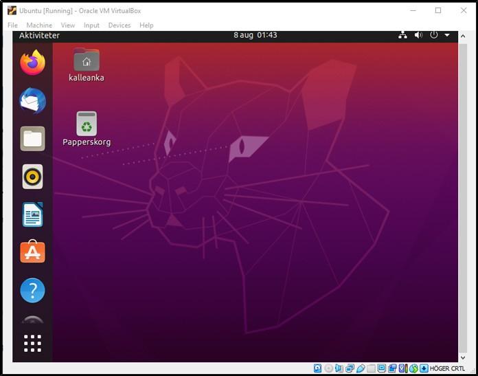 Ubuntu är installerat