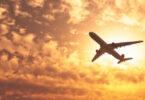 Flygplan soluppgang