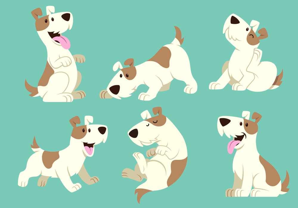 Hund som leker